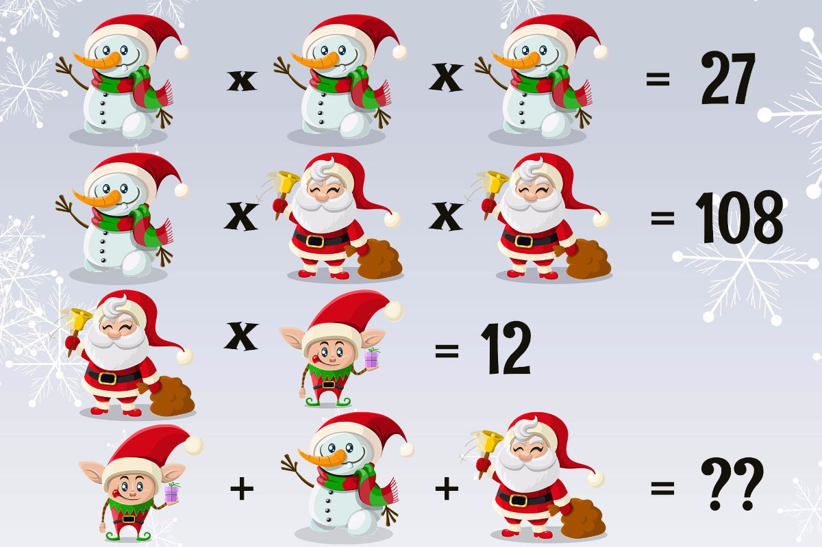 can you solve this christmas equation - Christmas Logic Puzzles
